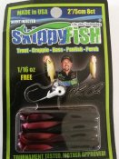 Skippyfish Red Shad 5cm 8pack