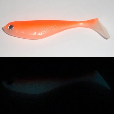 Löjan P Orange Fluo/Vit Glow 8,7 cm